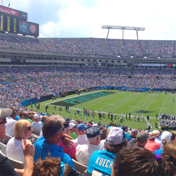 panthers bank of america stadium 9/8/2013