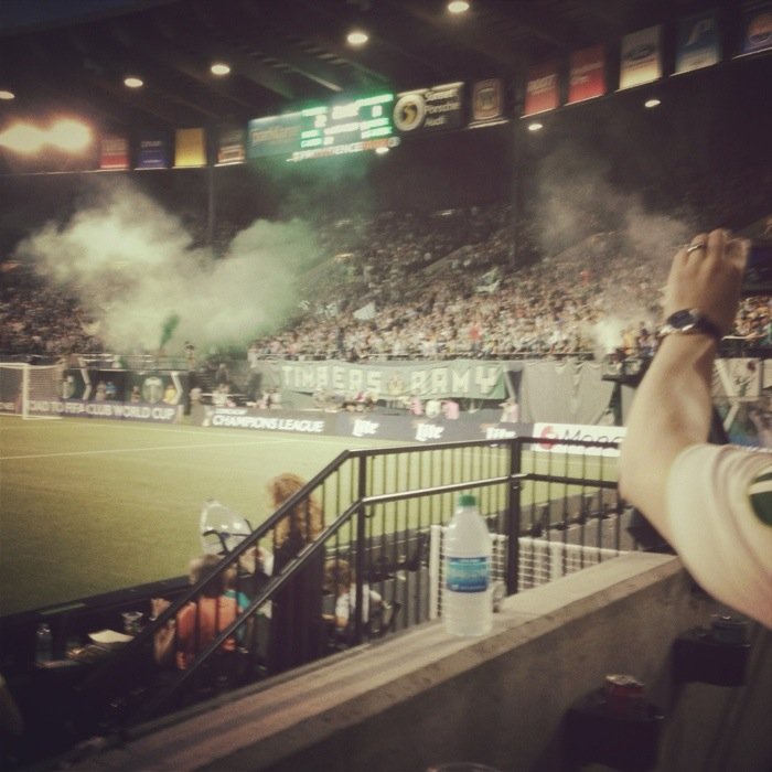 portland timbers army soccer game