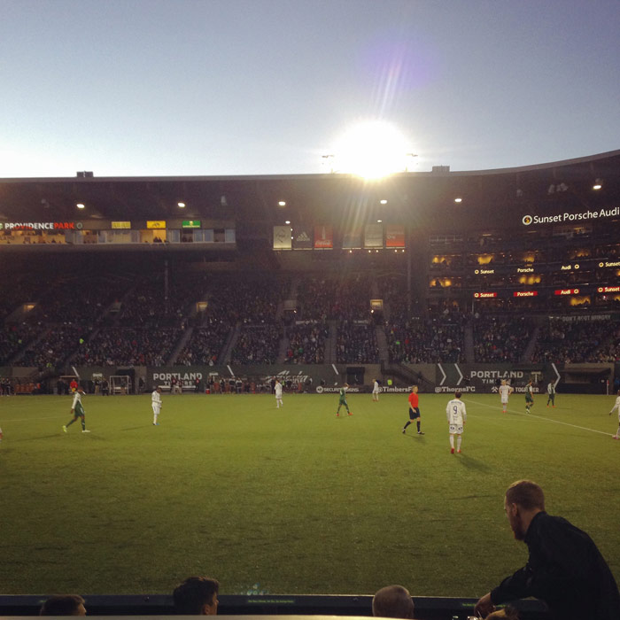 portland timbers game at providence park 2/28/2015
