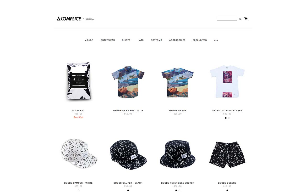 joaochao portfolio akomplice webstore home
