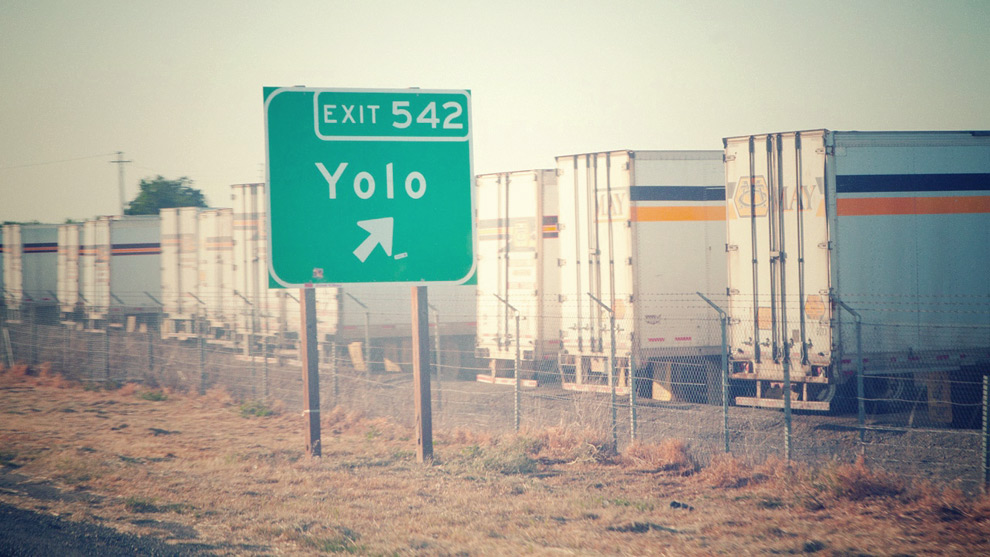 Yolo California Exit Sign