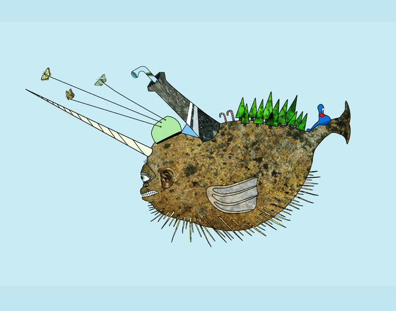The Lonely Pnuffer Fish, Illustration Joaochao.com