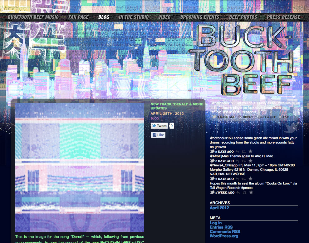 bucktooth beef music website