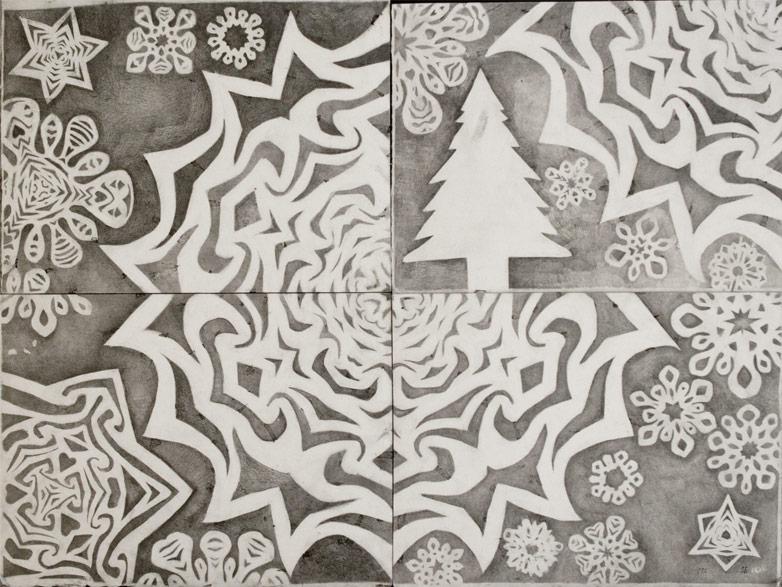 Snowflake Stencil Drawing #1 joaochao.com