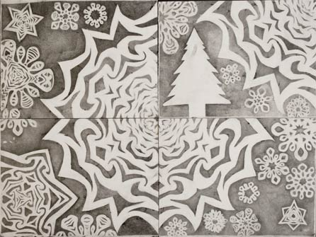 snowflake drawing final study
